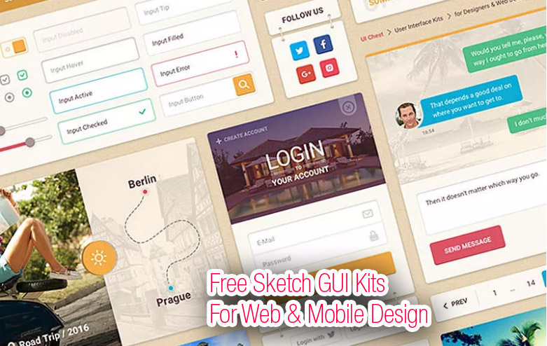Free Sketch GUI Kits
