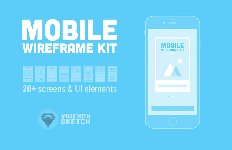 Free Mobile Wireframe Kit