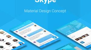Skype Material Design Concept