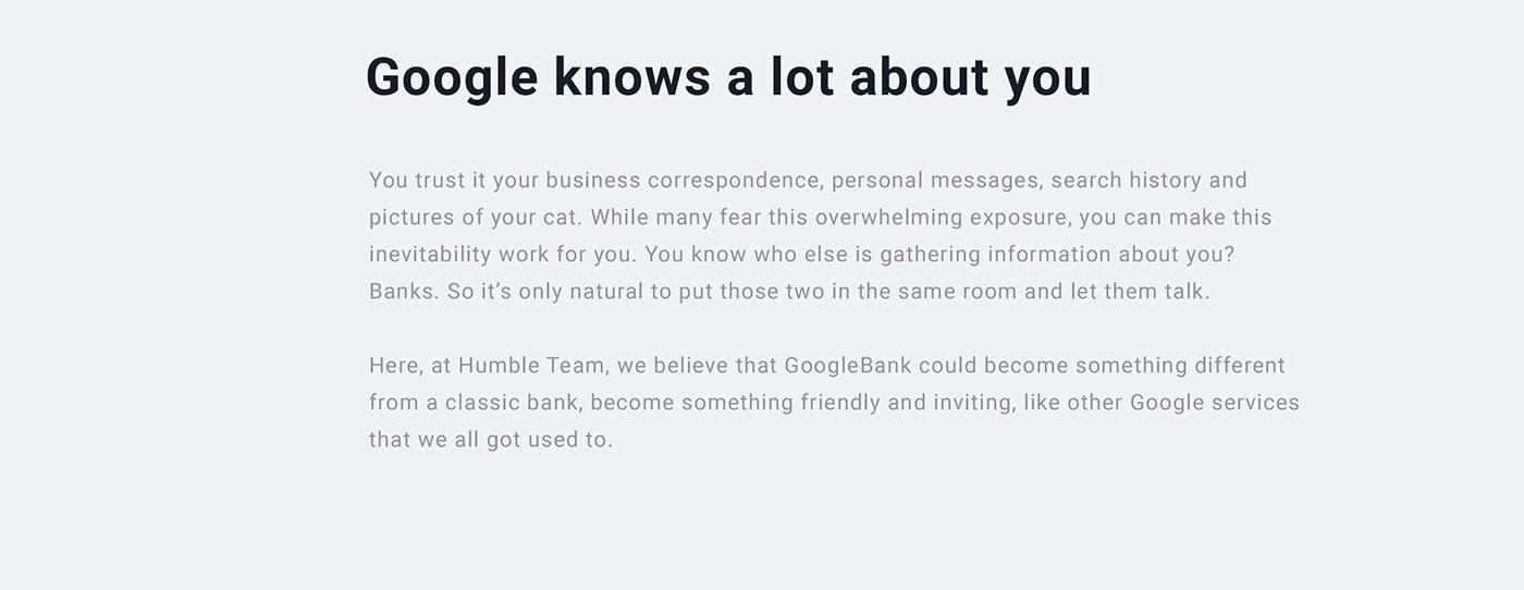 Google Bank Application